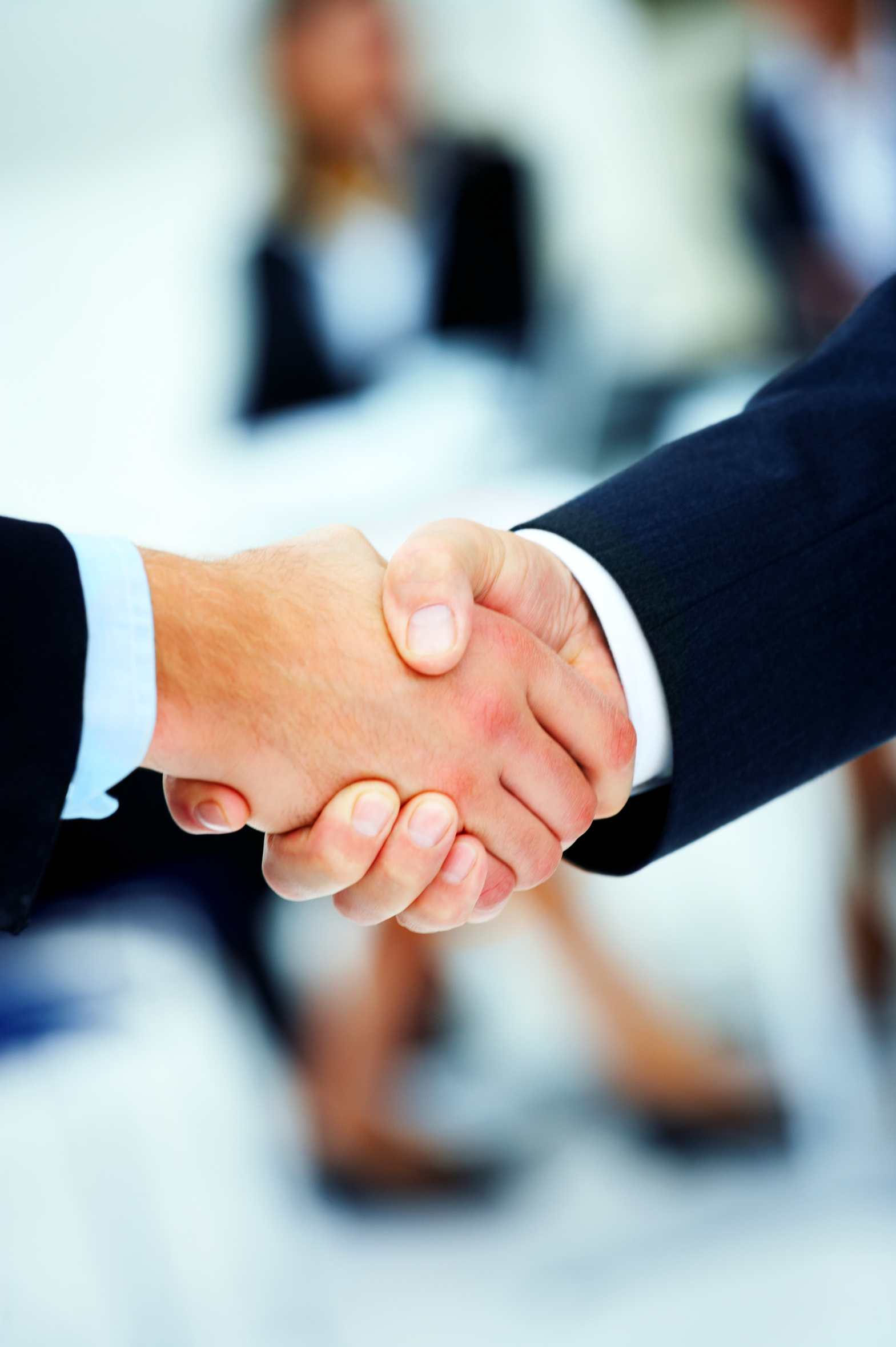 Teamwork and team spirit - Business handshake